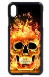 Cool Flaming Skull Design Hard Case Cover Fits Apple iPhone